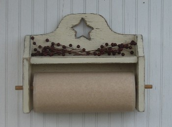 Country Primitive Kitchen & Bathroom Decor - Paper Towel Holders