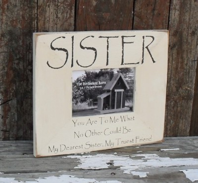 Primitive Picture Frames with Sayings
