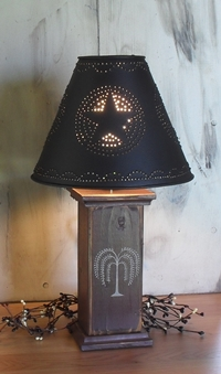 Primitive Lamps Country Lamps Punched Tin Lamp Shades