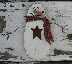 christmas primitives winter decor snowman with lighted saltbox housessnowmencountry and primitive christmas decor